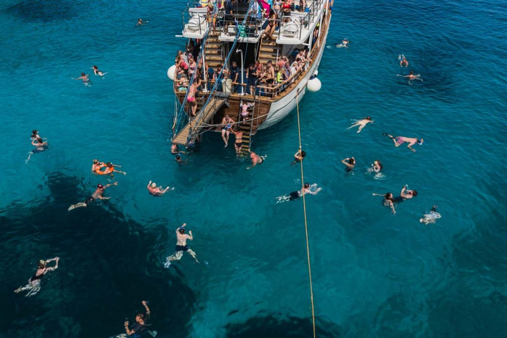 corfu cruises sivota excursion swimming blue water